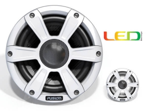 Fusion 10 Subwoofer m. White grill + LED