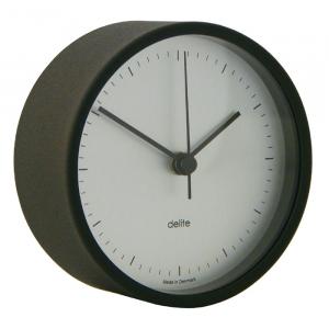 Clausen Quartz ur i poleret rustfrit stål m. hvid skive